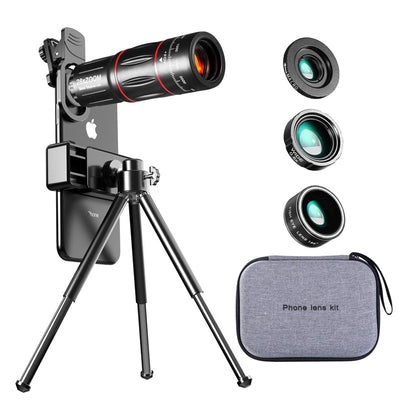 Tongdaytech 28X HD Mobile Phone Camera Lens Telescope Zoom Macro Lens for Iphone Samsung Smartphone Fish Eye Lente Para Celular