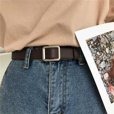 Women Belt Classic Fashion Vintage Solid Leather