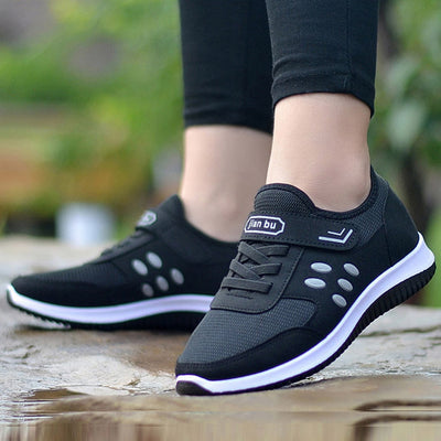 New Leisure Flat For Women Outdoor Mesh Shoes