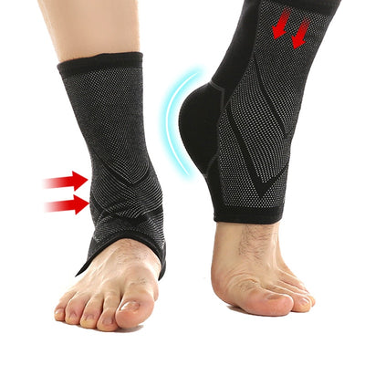 1 Pair Ankle Brace Compression Ankle Support Sleeve Elastic Breathable for Injury Recovery Joint Pain basket Foot Sports Socks