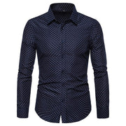 Men Casual Long Sleeved Solid Shirt Slim Fit
