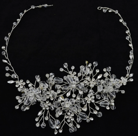 Bridal Headpiece Crown Crystal Pearl