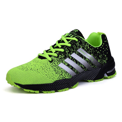 Big Size Green Breathable Cheap Running Shoes