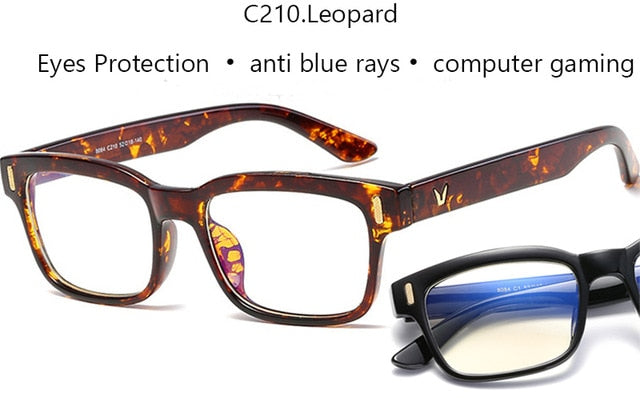 Blue Ray Computer Glasses Men Screen Radiation Eyewear Brand Design Office Gaming Blue Light Goggle UV Blocking Eye Spectacles