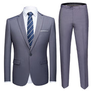 Men Suits 2-Piece Jacket Pants