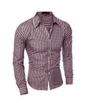 Men Long Sleeve Cotton Business Casual Shirt