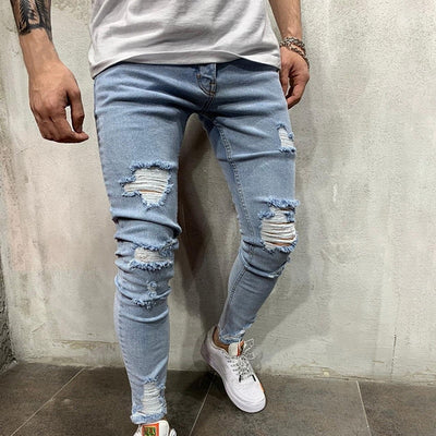 Stretchy Ripped Skinny Jeans