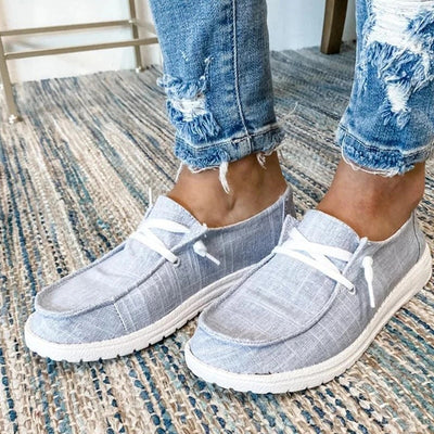 Women Casual Shoes Lace Up Loafers Soft Breathable Shoes