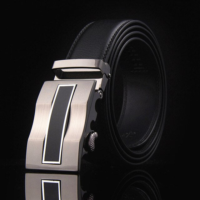New Alloy Automatic Buckle Belt Male Genuine Leather Belt