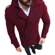 Men Winter Warm Windbreaker Trench Woolen Coat Retro Jacket Men Coat Jackets Double Breasted Fashion Male Winter Autumn Overcoat