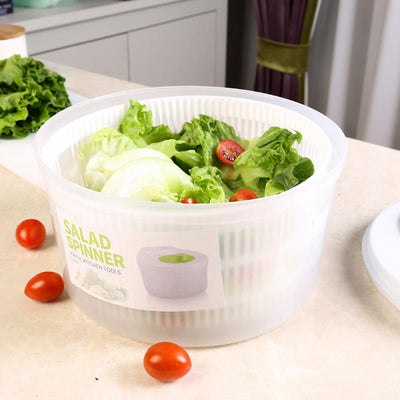 Multifunctional Plastic Big Salad Spinach Leaf Dryer Lettuce Drainer Vegatables and Fruits Mixer Gadgets Kitchen Accessories