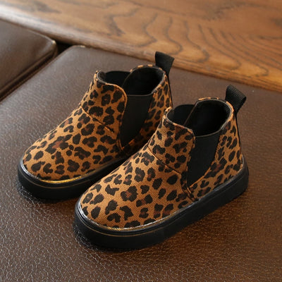 Baby Girls Boys Leopard Winter Warm Short Boots Casual Shoes