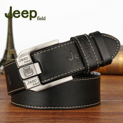 Men Cow Real Genuine Leather Luxury Vintage Belt