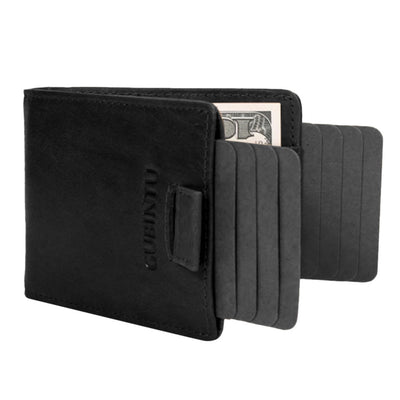 Slim Wallet with Double Pull-out Leather