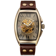 Leather Mechanical Watch Men