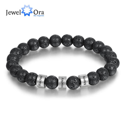 Men's Customized Lava ,Tigers Eye Stone Bracelets