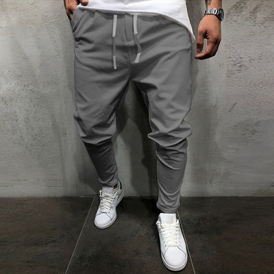 SHUJIN Spring Summer Men's Pants Casual Male Solid Color Long Pants Drawstring Men Loose Trourse Hot Sale