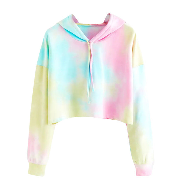 Colorful Printed Pullover Women's Hoodie