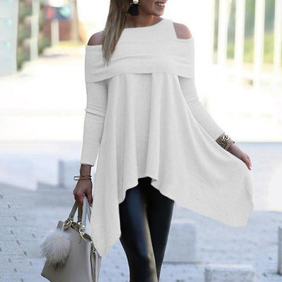 Irregular Womens Tops And Blouses