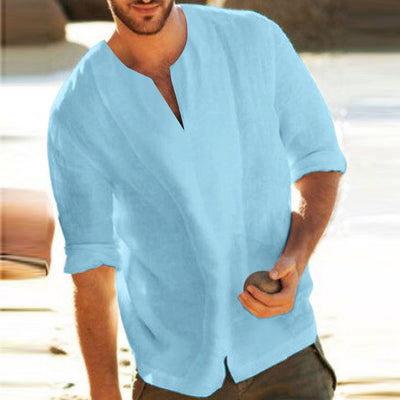 Men's T Shirts Summer V Neck Male Tops Baggy Tops