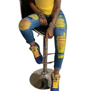 Denim Ripped Jeans For Women