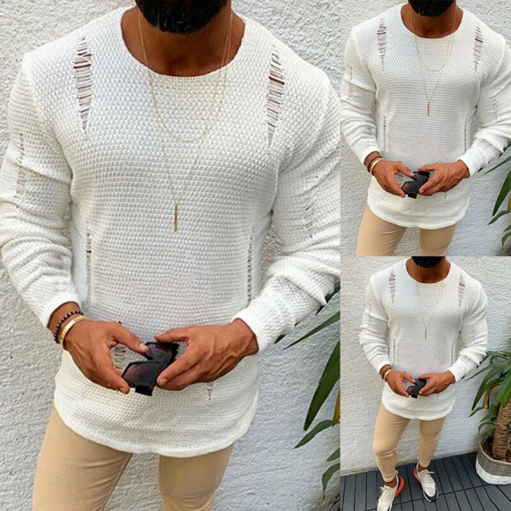 Mens Style Thermal Cotton Sweater