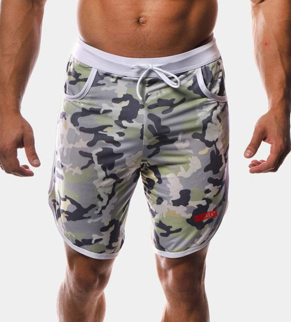 New Men Fitness Bodybuilding Shorts Man Summer  Workout Male Breathable Mesh Quick Dry Sportswear Jogger Beach Short Pants