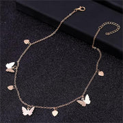 Gold Chain Butterfly Pendant
