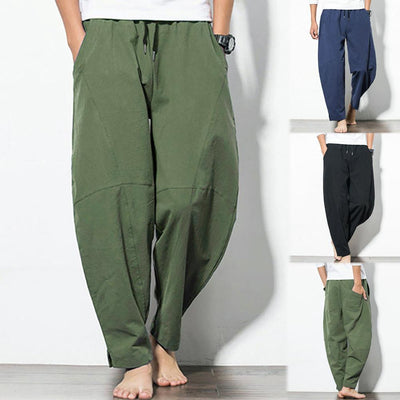 Men's Casual Loose Cotton Linen Pant