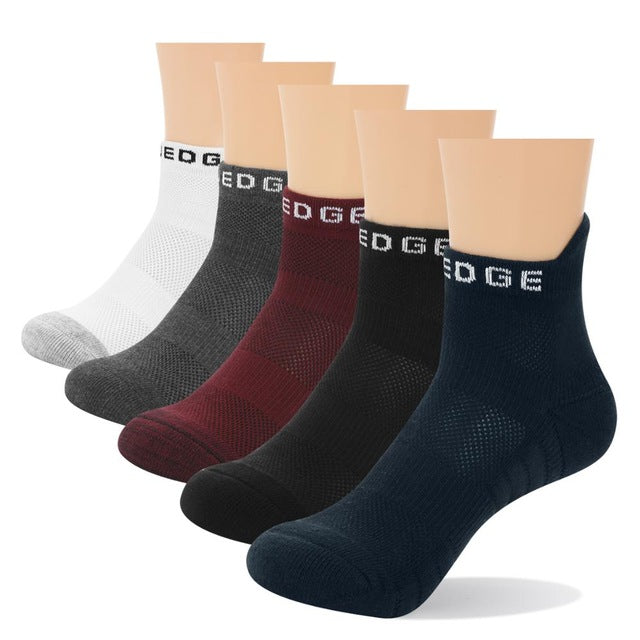 Breathable Cotton athletic Socks 5 Pairs