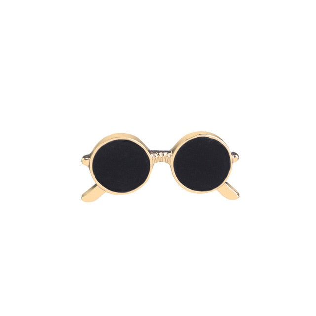 Vintage Men Black Eyeglasses Brooch Sunglasses Brooch