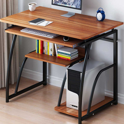 Modern Computer Desk with Keyboard bracket PC Workstation Study Writing Table Home Office Furniture 71cm