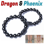 Crystal Black Obsidian Bead Dragon Natural Stone Bracelet For Men Women Couples Ladies Anti-Swelling Healthy Bracelets Z0609