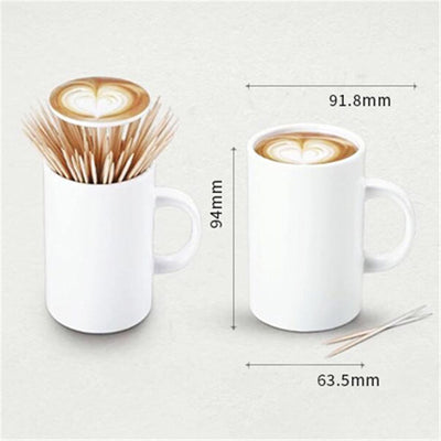 Creative Coffee Cup Toothpick Tube