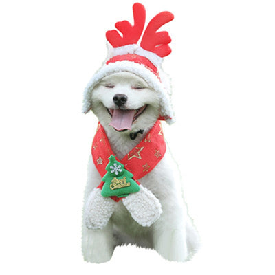 dog winter hat Christmas Tree Star Sparkling