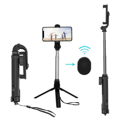 Wireless Bluetooth Selfie Stick Mini Tripod With Remote Control