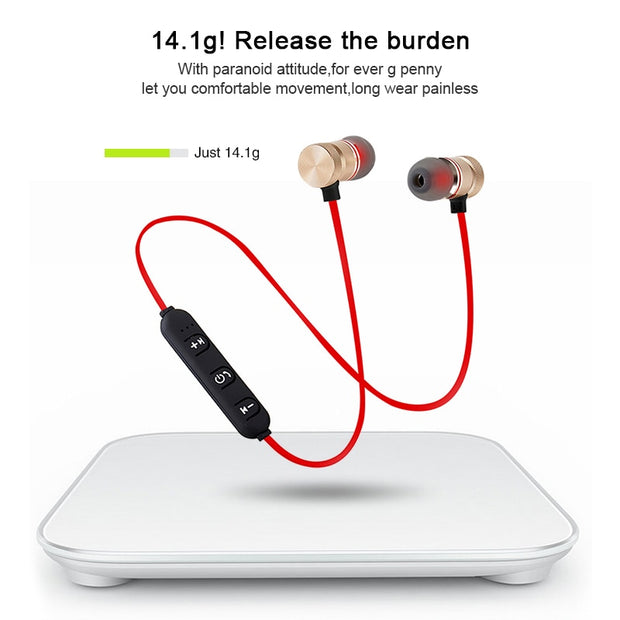 Magnetic Wireless Bluetooth Earphone With Mic