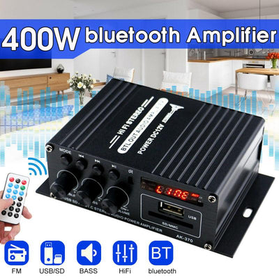400W Home Amplifiers Audio Bluetooth 5.0 Receiver