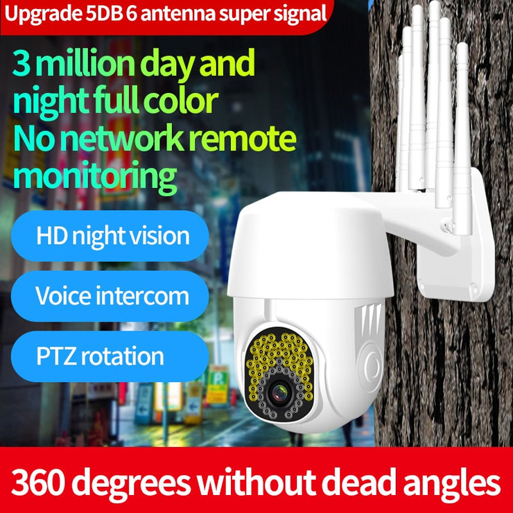 1080P Outdoor Security IP Cameras 360 Degree Coverage