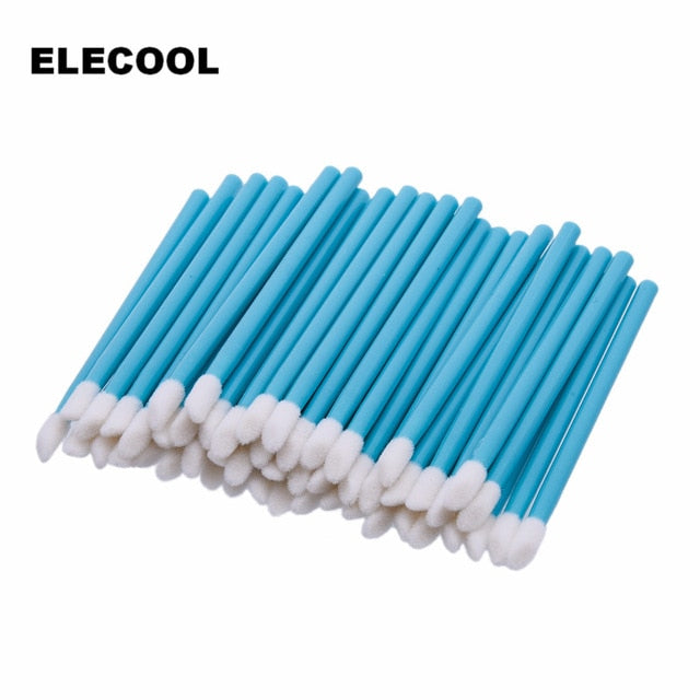 50 PCS Disposable Lip Brush Gloss Wands