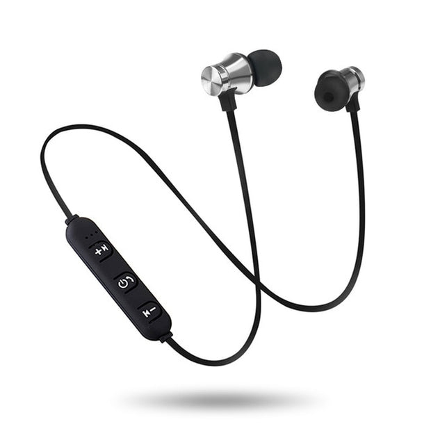 Wireless Magnetic Bluetooth Headset V4.2 Wireless Bluetooth Earphone  Wireless Stereo Magnetic Earbuds With Mic Headset Sports