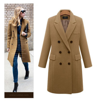 Winter Women Wool Coats Casual Effects Jacket