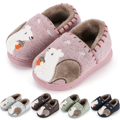 baby slippers Toddler Boys Girls Cute squirrel Shoes Warm Cute Animal Kid Home Slipper kids slippers pantufa chinelo тапочки