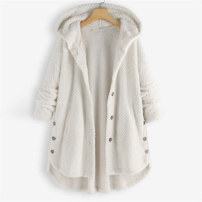 Plus Size Fleece Hooded Parka Coat