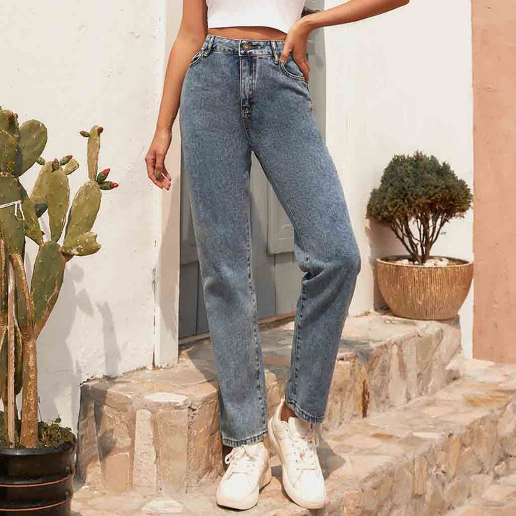 jean woman mom jeans pants boyfriend jeans for women with high waist push up large size ladies jeans denim  #C