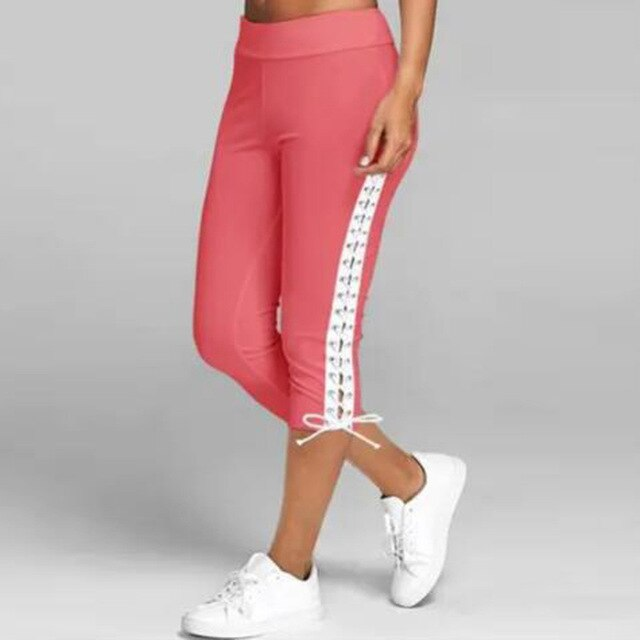 Summer Slim Waist Candy Color Stretch Leggings