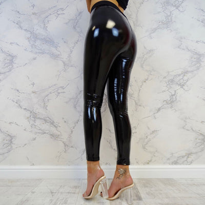 Women Ladies Stretchy Shiny Leggings