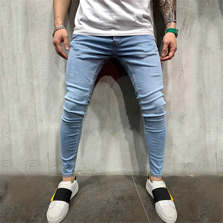Pleated Pocket Skinny Jeans Men