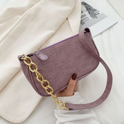 Elegant Armpit Sling Handbags Solid Color Women PU Leather Hobo Shoulder Bags Simple Shoulder Messenger Bags