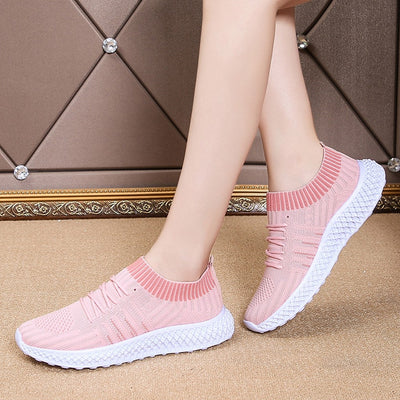 Women Sneakers Shoes Breathable Mesh Lace Up
